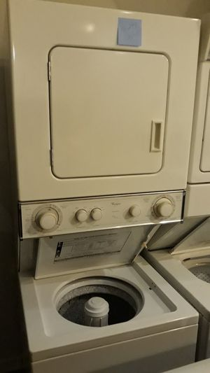 "Whirlpool washer and dryer unit stackable excellent condition 4months warranty 24"" for Sale in Halethorpe, MD"