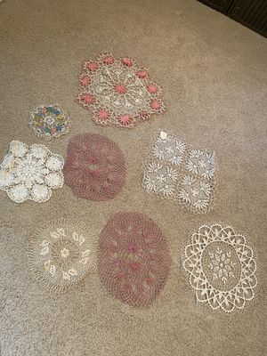 Crocheted doilies for Sale in Bay City, MI