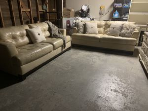 Genuine leather couches for Sale in Bakersfield, CA