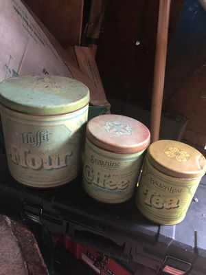 Set of vintage canisters dated back in 1800's for Sale in Swords Creek, VA