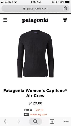 Patagonia Base Layer for Sale in Pittsburgh, PA