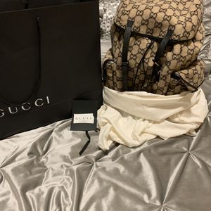 Brand New Genuine Gucci GG Monogram Wool XL Backpack - MSRP $3200 for Sale in Kissimmee, FL