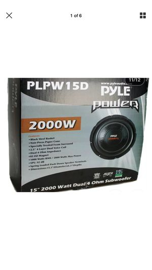 15 inch Subwoofers with Ported Box for Sale in Uniontown, AL