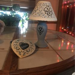 candle lamp and item holder for Sale in Mackinaw,  IL