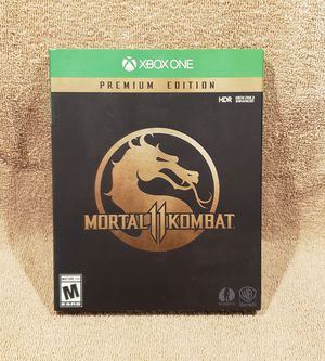 *EXCLLNT GIFT IDEA* MORTAL KOMBAT 11 PREMIUM STEELBOOK EDITION (XB1 2019) *SHIPS SUPER FAST!*KOMPLETE*EXCLLNT CNDTN* for Sale in Tucson, AZ
