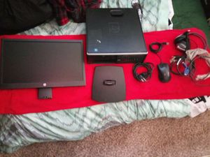 Windows 7 hp comuter and monitor with accessories for Sale in Kearns, UT