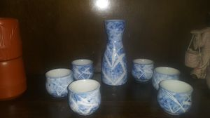 Chinese porcelain Water pot cups qing mark saki tea bamboo for Sale in Big Rock, TN