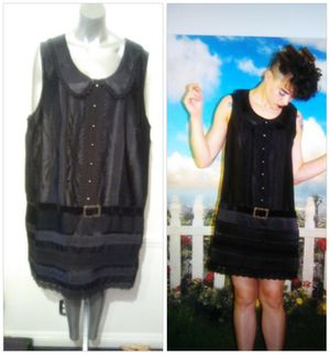 Anna Sui Sleeveless Black Lace Low Belted dress for Sale in Whittier, CA