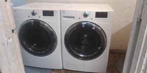 WHITE WASHER AND GAS DRYER FRONT LOAD LG for Sale in San Bernardino, CA