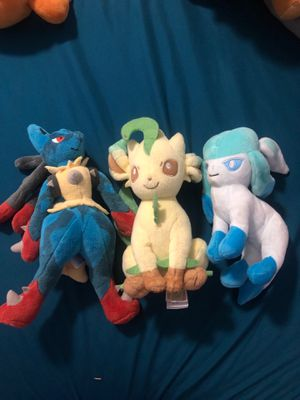 Pokémon plushy's for Sale in Glendale, AZ