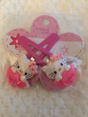 Hello kitty Barrettes-two options to choose from-$3.50 each set for Sale in Glastonbury, CT