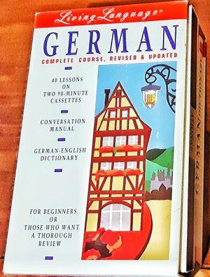 Living language GERMAN language learning program w CASETTE TAPES ca. 1993 ! for Sale in Saginaw, MI
