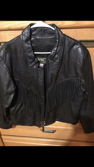 Ladies Black Leather Bike Jacket - Size 14 for Sale in Lynn, MA