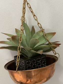 Copper Hanging Plant Container for Sale in Palm Beach,  FL