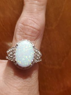 Opal Ring With Diamonds From ZALES for Sale in Lillian,  AL