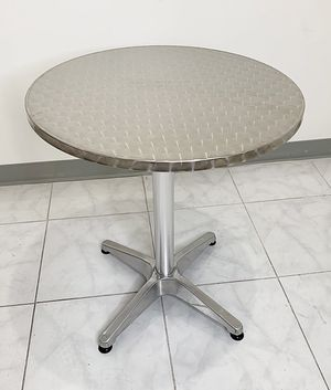 "$20 NEW Round 24"" Aluminum Indoor Outdoor Table Stainless Steel Top with Base 27""H for Sale in Pico Rivera, CA"