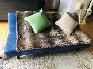 Faux fur blanket + down pillows for Sale in Philadelphia, PA