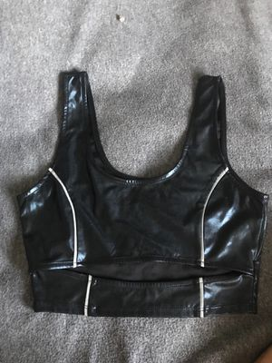 Forever 21 cute leather top for Sale in Etiwanda, CA