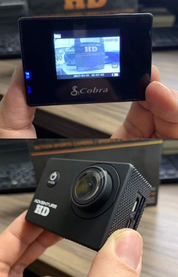 New in box Cobra Adventure HD sports generic gopro style camera cam 1080p water proof with lcd screen and accessories