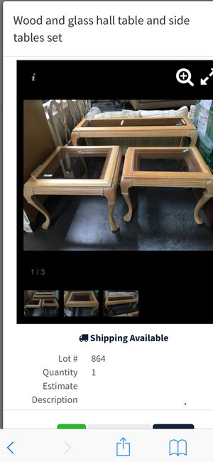 3 pc coffee tables for Sale in Las Vegas, NV