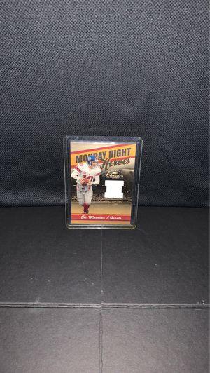 2008 Donruss Eli Manning Monday Night Heroes Game worn Jersey for Sale in Gilbert, AZ