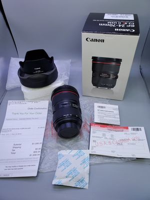 Canon ef 24-70 2.8L II (MINT) >READ< for Sale in Glendale Heights, IL