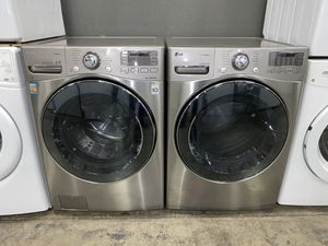 XL CAPACITY STEAM STAINLESS WASHER DRYER 100 DAYS WARRANTY for Sale in Vancouver, WA