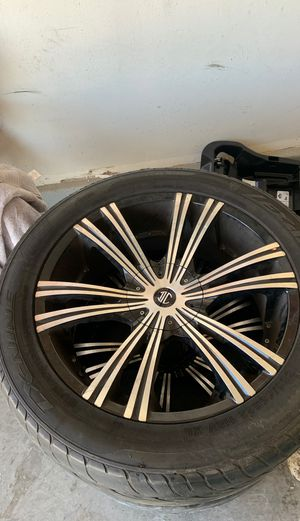 4 rims and tires off of a Dodge Ram 5 lugs 22 inch for Sale in Las Vegas, NV