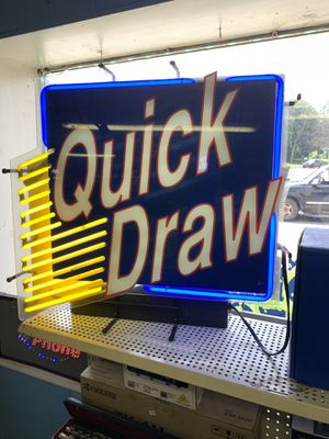 Quick Draw Neon Sign (Nice) for Sale in Elmira, NY
