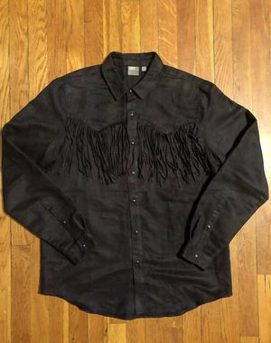 Mens Asos fringe paid $38 size XL navy blue button down shirt for Sale in Washington, DC