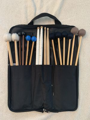 Zildjian Drumstick bag. Marimba, Vibraphone, Xylophone, Bells, and Timpani Mallets. Concert snare/drum set sticks. Marching/rudimentary snare sticks. for Sale in Irwindale, CA