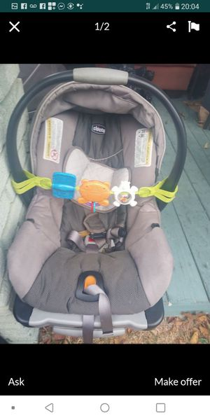 Chicco infant car seat with base for Sale in Dallas, TX