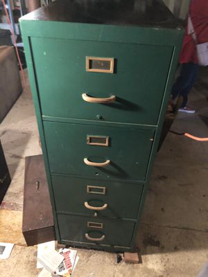 Large wooden file cabinet in good condition for Sale in Braintree, MA