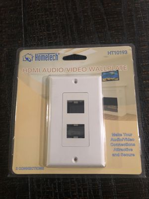 Hometech HDMI video/audio wall plate for Sale in Fontana, CA