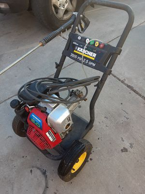 Karcher 3000 psi gas powered pressure washer honda motor for Sale in Salt Lake City, UT