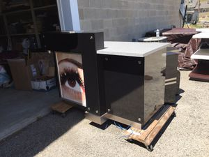 Sales counter w/lighted poster frame for Sale in Peoria, IL