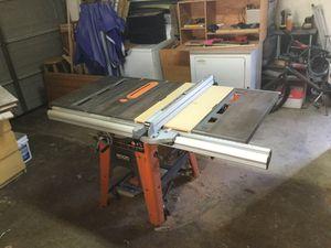 "10"" Ridgid table saw for Sale in Pomona, CA"