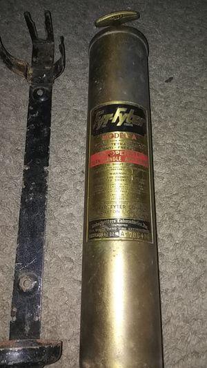 Antique fire extinguisher w mount still full for Sale in Renton, WA