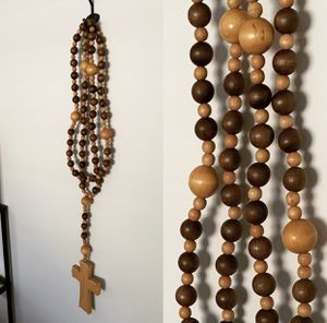 XL Oversized Wooden Rosary Beads for Sale in Puyallup, WA