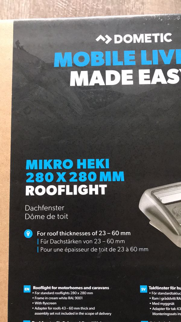 Dometic Mikro Heki 280x280mm Skylight