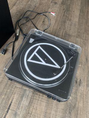 Audio Technica record player + speaker & records for Sale in Philadelphia, PA