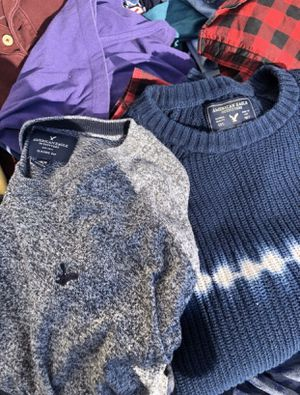 Lot of men's brand name clothing sizes S/M. Must take all. NEED GONE, make an offer! for Sale in Martinsburg, WV