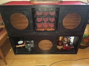 Stackable Pier 1 bar with wine holders for Sale in Philadelphia, PA