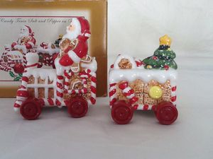 Salt and Pepper Christmas Decorations for The Dining Room Table from Ouray Colorado for Sale in Colorado Springs, CO