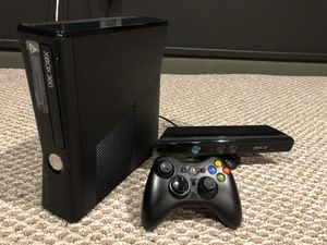 Xbox 360 Slim with Kinect, plus few games for Sale in Annandale, VA