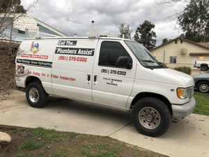 3,900 JUST REDUCED! Ford E-250. Commercial Plumbing van. Runs great! Wench, A/C, Heat, Radio, Racks on top for Pipes, Metal Shelves inside. for Sale in Romoland, CA