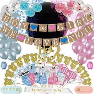 Gender Reveal Party Supplies (105pc) | Free eBook included | Baby Shower Gender Reveal Decorations for Sale in Hacienda Heights, CA