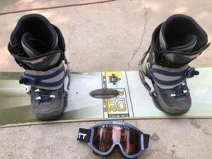 """Burton 59"""" Snowboard, Scott Snowmobile Goggles, & Northwave Snowboard boots attached for Sale in La Habra, CA"""