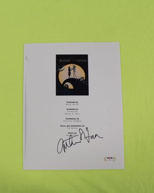 CATHERINE O'HARA SIGNED THE NIGHTMARE BEFORE CHRISTMAS SCRIPT Cover PSA/DNA COA for Sale in Cupertino, CA