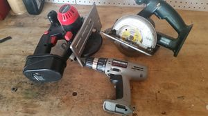 2 battery saws and a portal cable drill for Sale in Detroit, MI